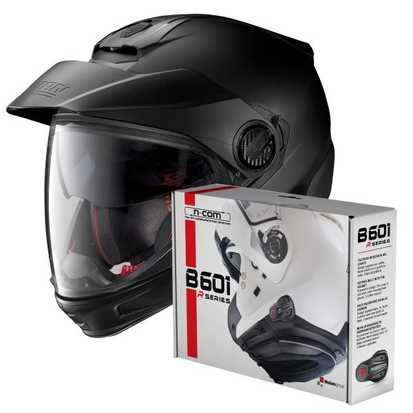 Casque Transformable Nolan N40 5 GT Fade Flat Anthracite 17 + Kit Bluetooth B601R