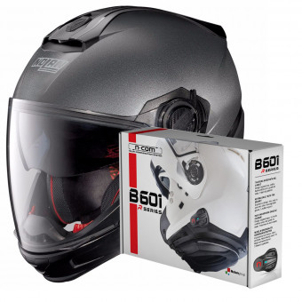 Casque Transformable Nolan N40 5 GT Special N-Com Black Graphite 9 + Kit Bluetooth B601R