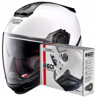 Casque Transformable Nolan N40 5 GT Special N-Com White 15 + Kit Bluetooth B601R