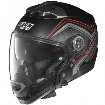Casque Transformable Nolan N44 Evo Como N-Com Flat Black Red 33