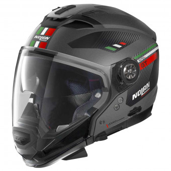 Casque Transformable Nolan N70 2 GT Bellavista N-Com Flat Lava Grey Italy 24
