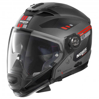 Casque Transformable Nolan N70 2 GT Bellavista N-Com Flat Lava Grey Red 23
