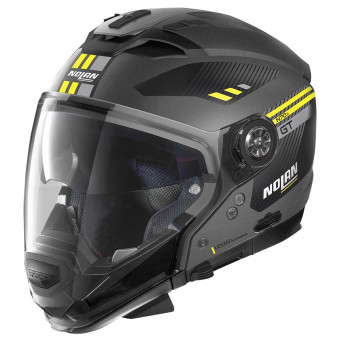 Casque Transformable Nolan N70 2 GT Bellavista N-Com Flat Lava Grey Yellow 20
