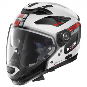 Casque Transformable Nolan N70 2 GT Bellavista N-Com Metal White 28