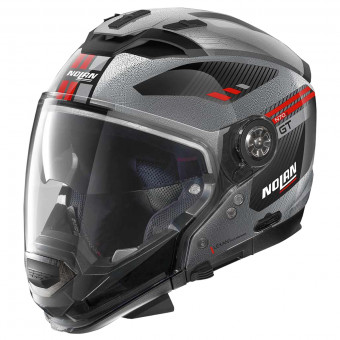 Casque Transformable Nolan N70 2 GT Bellavista N-Com Scratched Chrome 29
