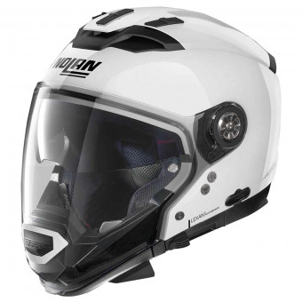 Casque Transformable Nolan N70 2 GT Classic N-Com Metal White 5