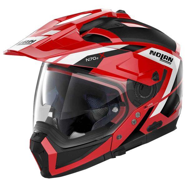 Casque Transformable Nolan N70 2 X Grandes Alpes N-Com Corsa Red 28