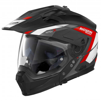 Casque Transformable Nolan N70 2 X Grandes Alpes N-Com Flat Black Red 20