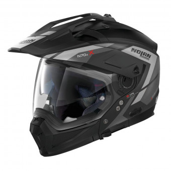 Casque Transformable Nolan N70 2 X Grandes Alpes N-Com Flat Black Silver 21