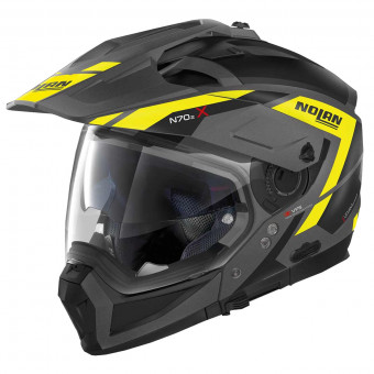 Casque Transformable Nolan N70 2 X Grandes Alpes N-Com Flat Black Yellow 23