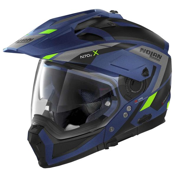 Casque Transformable Nolan N70 2 X Grandes Alpes N-Com Flat Imperator Blue 25