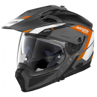 Casque Transformable Nolan N70 2 X Grandes Alpes N-Com Flat Lava Grey 24