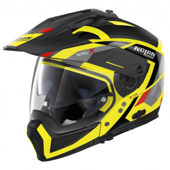 Casque Transformable Nolan N70 2 X Grandes Alpes N-Com Led Yellow 27