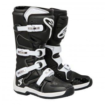Bottes Cross Alpinestars Tech 3 Black White