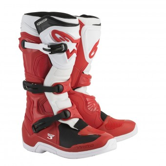 Bottes Cross Alpinestars Tech 3 Red White