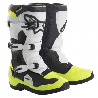Bottes Cross Alpinestars Tech 3S Kids Black White Yellow Fluo