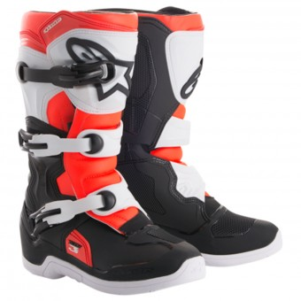 Bottes Cross Alpinestars Tech 3S Youth Black White Red Fluo
