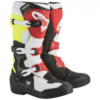 Bottes Cross Alpinestars Tech 3S Youth Black White Yellow Fluo