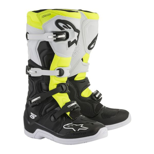 Bottes Cross Alpinestars Tech 5 Black White Yellow Fluo