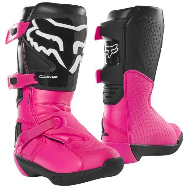 Bottes Cross FOX Comp Boot Black Pink Enfant