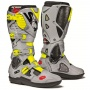 Bottes Cross SIDI Crossfire 3 SRS Black Cendre Yellow Fluo