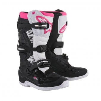 Bottes Cross Alpinestars Stella Tech 3 Black White Pink