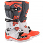 Bottes Cross Alpinestars Tech 5 White Gray Red Fluo