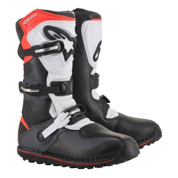 Bottes Cross Alpinestars Tech T Black Gray Red Fluo