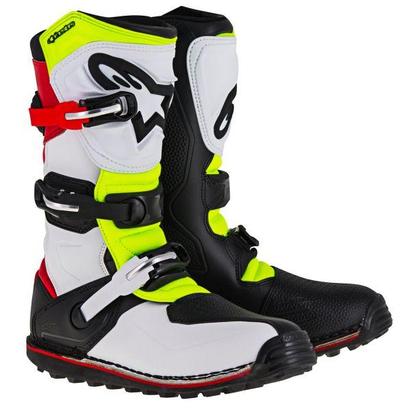 Bottes Cross Alpinestars Tech-T Red Yellow Fluo