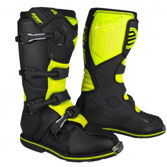 Bottes Cross SHOT X10 2.0 Black Neon Yellow