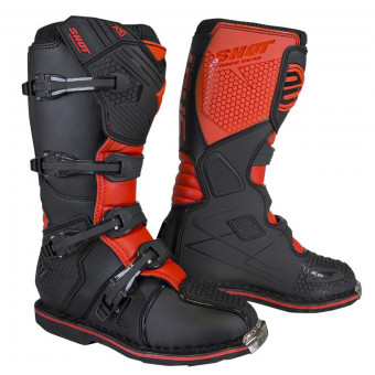 Bottes Cross SHOT X10 2.0 Black Red