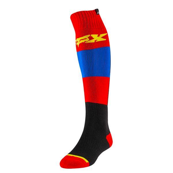 Chaussettes Cross FOX Fri Thin Sock Linc Blue Red