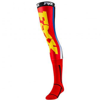 Chaussettes Cross FOX Linc Knee Brace Sock Red Yellow