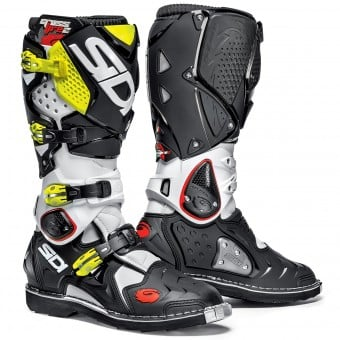 Bottes Cross SIDI Crossfire 2 White Black Yellow Fluo