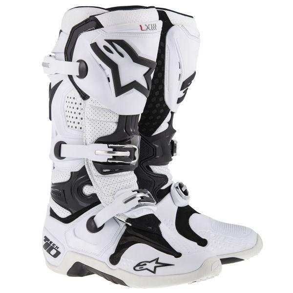 Bottes Cross Alpinestars TECH 10 White