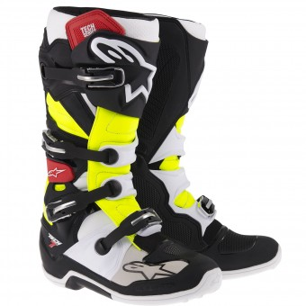 Bottes Cross Alpinestars TECH 7 Black Red Yellow