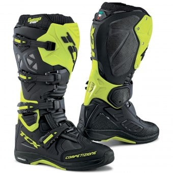 Bottes Cross TCX Comp Evo Michelin Black Yellow Fluo