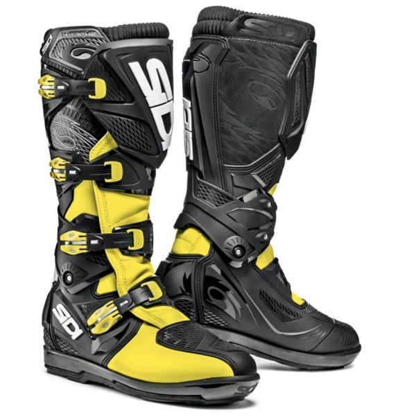 Bottes Cross SIDI Crossfire 2 SRS Yellow Fluo