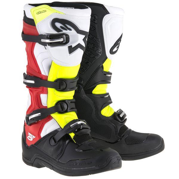 Bottes Cross Alpinestars Tech 5 Black Red Yellow Fluo