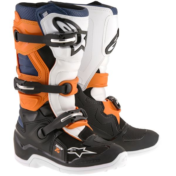 Bottes Cross Alpinestars TECH 7 S Black Orange Blue Enfant