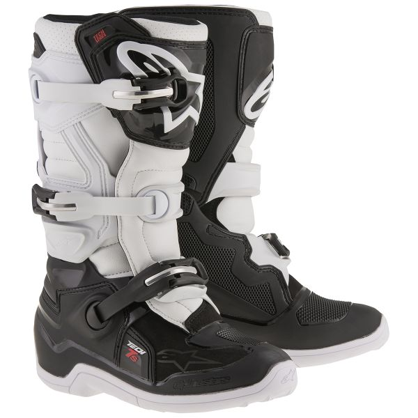 Bottes Cross Alpinestars TECH 7 S Black White Enfant