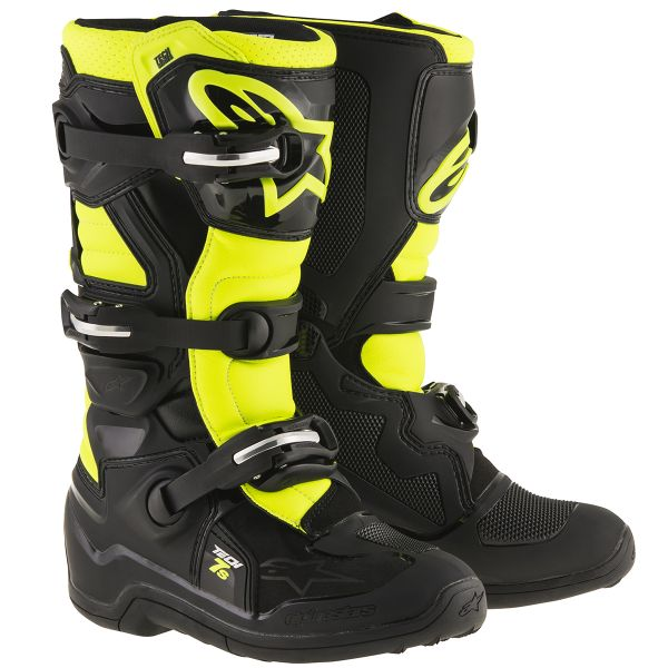 cb4e11dac87684 Bottes Cross Alpinestars TECH 7 S Black Yellow Fluo Enfant Au ...
