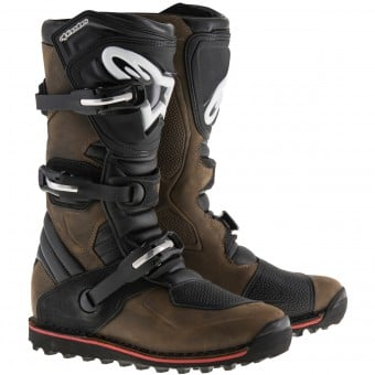Bottes Cross Alpinestars Tech-T Brown Oiled