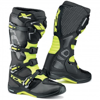 Bottes Cross TCX X-Helium Michelin Black Yellow Fluo