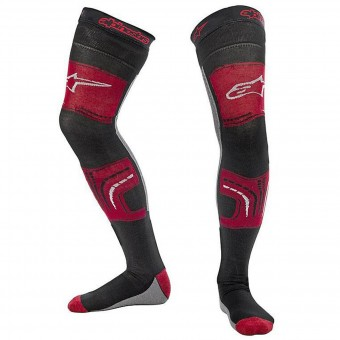 Chaussettes Cross Alpinestars Knee Brace Socks Red Black