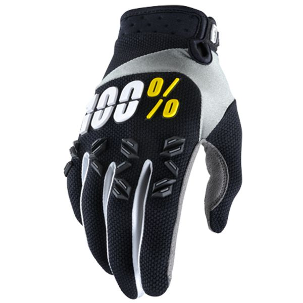 Gants Cross 100% Airmatic Black Yellow Enfant