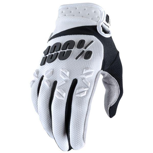 Gants Cross 100% Airmatic White Black