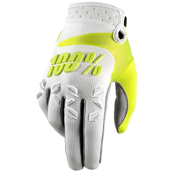 Gants Cross 100% Airmatic White