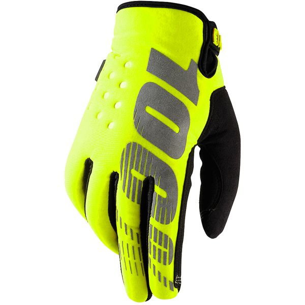 Gants Cross 100% Brisker Yellow Enfant