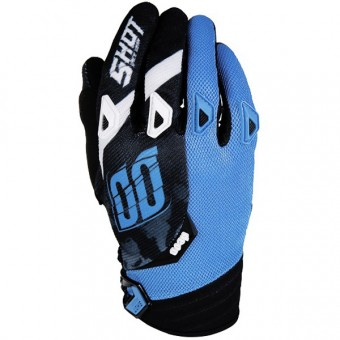 Gants Cross SHOT Devo Squad Blue Black